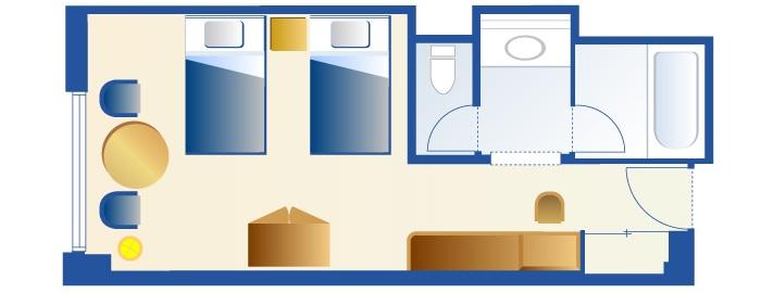 チップとデールルームのフロアー図(画像引用元:Disney)