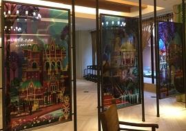 セレブレーションホテルのガラスアート