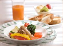 グランパシフィックダイバのクラブプレジデントフロアの特典朝食(画像引用元:楽天トラベル)