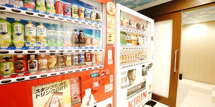 ラジェント東京ベイの自動販売機(画像引用元:楽天トラベル)