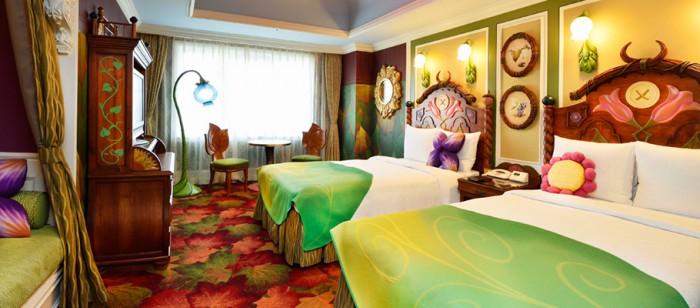 東京ディズニーランドホテルのティンカーベルルーム(画像引用元:楽天トラベル)