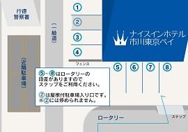 ナイスインホテル市川東京ベイの駐車場(画像引用元:楽天トラベル)