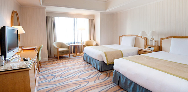 ホテルグランパシフィック・ル・ダイバのスタンダードルーム(画像引用元:ホテルグランパシフィック・ル・ダイバ)