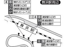 東京ベイシティバス舞浜駅乗り場